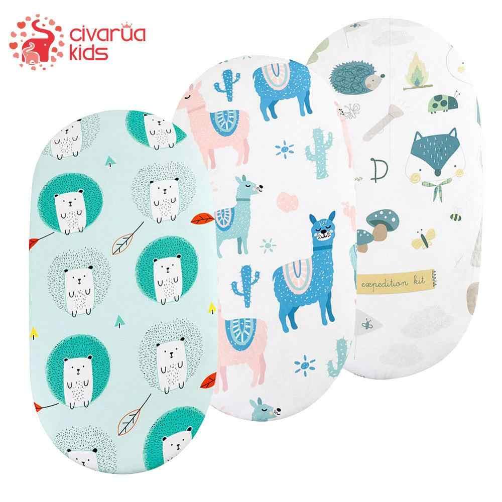 Wieg Sheet Wieg Lakens Babybed Matras Cradle Covers Print Pasgeboren Beddengoed Set Pasgeboren Mini Cot Sheet