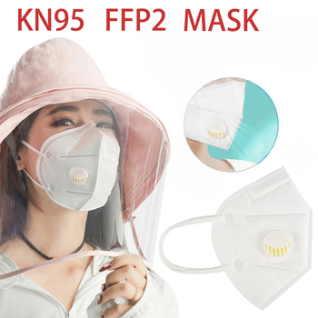 Reusable KN95 Mask Face Mask Respirator Mask 5 Layer Protection Anti-dust FFP2 FFP3 Mask Face Protective With Breathing Valve