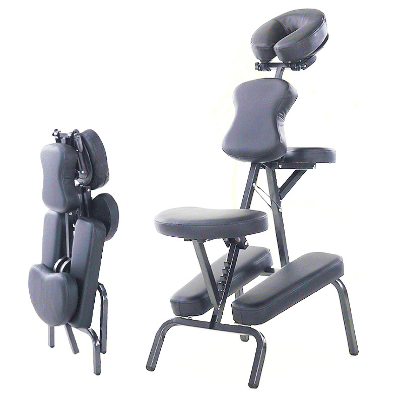 Folding Adjustable Tattoo Scraping Chair Portable Leather Pad Massage Chair Quality Beauty Bed Salon Chair Cama Masaje Cheap