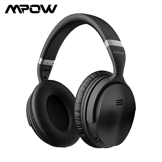 Mpow H5 Active Noise Cancelling Headphone Over Ear HiFi Stereo ANC Wireless Bluetooth Headphones With Microphone & Carrying Bag