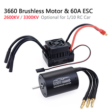 Waterproof RC Car 1/10 Parts 3660 2600KV 3300KV Brushless Motor for Tamiya Traxxas Slash Bandit Redcat 1/10 RC Truck Monster rc car bl3665 2600kv sensorless brushless motor 80a esc for 1 10 traxxas rc crawler redcat hsp car rc truck parts