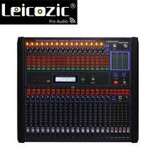 """Leicozic 16-канальный цифровой аудио смеситель 1"""" стойку смесители Профессиональный микшерный пульт Цифровой dj оборудование live смесители для сцены"""