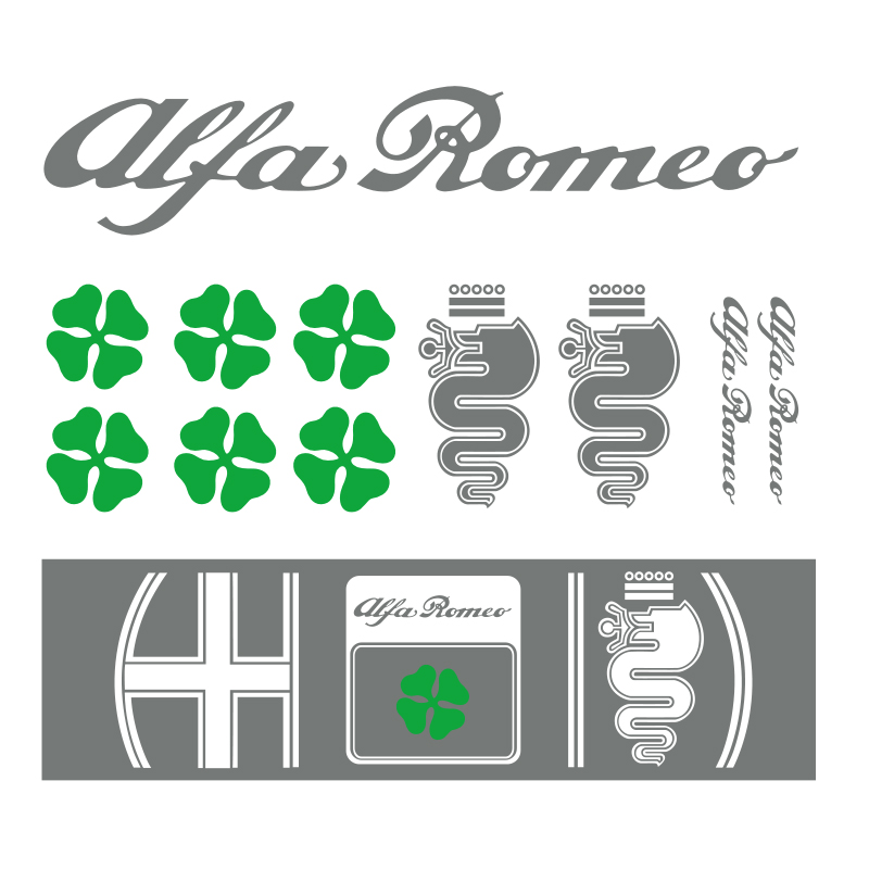 Наклейка для Alfa Romeo Giulia Stelvio, наклейка для украшения автомобиля, 12 шт.