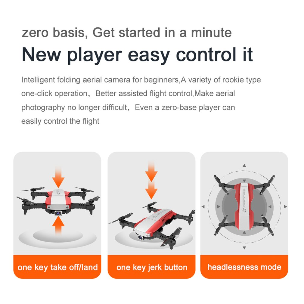 cheapest LAUMOX S17 RC Drone with 4K Adjustable Wide-Angle Camera Foldable Quadcopter Optical Flow Dron RC Helicopter VS X12 SG106 XS816