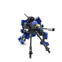 Design original sniper mecha guerreiro blocos de construção brinquedos para crianças robôs armadura anime figura modelo 10cm figura ação bonecas
