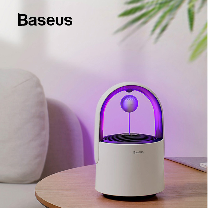 Baseus USB Luz Eléctrica Anti mosquitos lámpara LED Mosquito asesino lámpara de Control de insectos trampa hogar Control de Plagas Bug Zapper-in fanáticos from Electrodomésticos    1