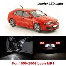 13 pces canbus led interior leitura dome mapa luzes bulbo kit para acessórios do assento para 1999-2006 leon mk1 1m 1m1 hatchback
