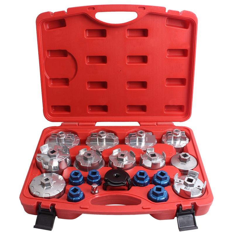 19PCS Cartridge Type Filter Paper Filter Wrench Oil Grid Wrench Set