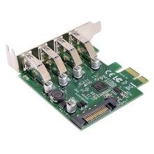 Низкопрофильная 4 порта Pci-E к Usb 3,0 концентратор Pci Express карта расширения адаптер 5 Гбит/с для материнской платы