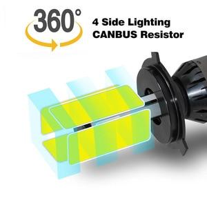 Image 2 - Mini Đèn Pha Ô Tô D2S D1S D3S D4S LED H4 H7 Xi Nhan CANBUS H15 H13 4 Mặt 12000LM Không Sai Số 6500K 3000K 1000K Tự Động Đèn Sương Mù Đèn 12V