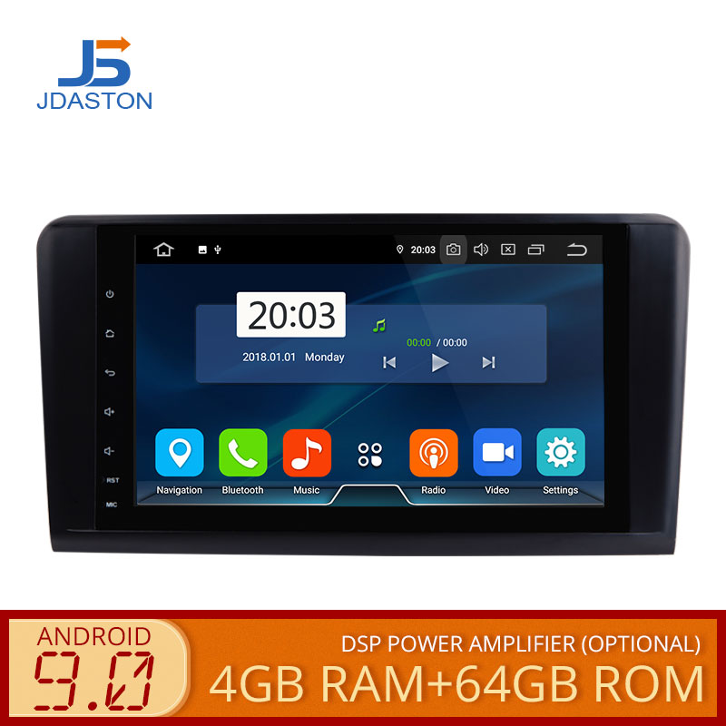 JDASTON 2 Din 9 Inch Android 9.0 Car Multimedia Player For <font><b>Mercedes</b></font> Benz GL <font><b>ML</b></font> CLASS <font><b>W164</b></font> X164 ML350 ML450 WIFI GPS <font><b>Radio</b></font> 4G+64G image