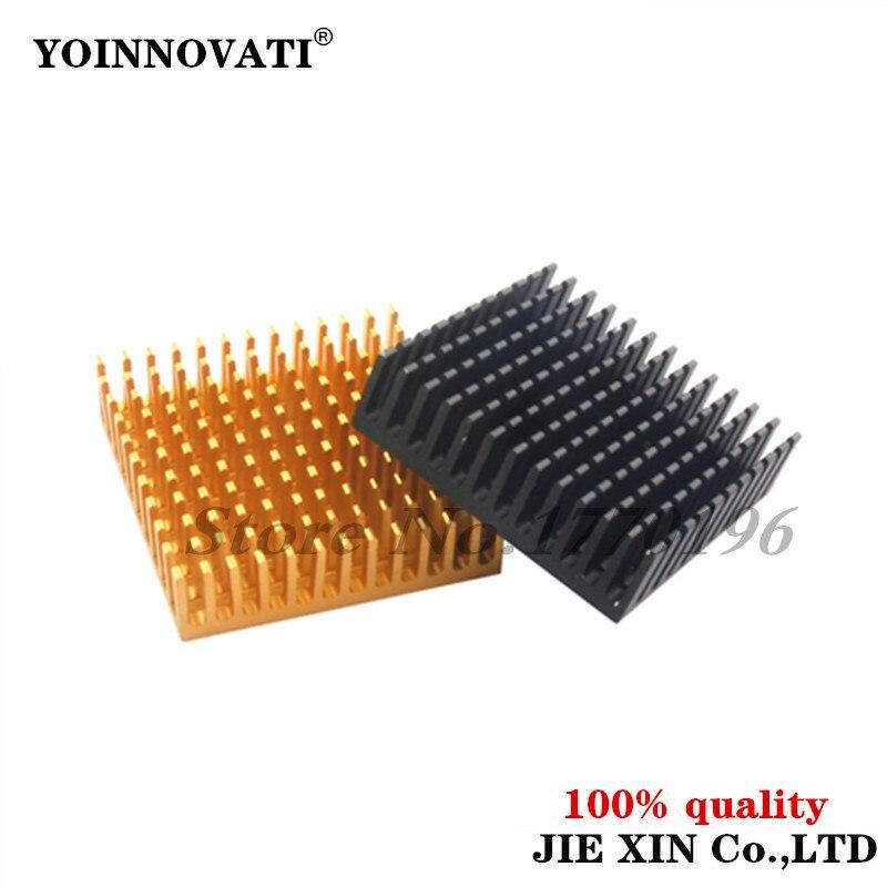 2 шт. 40*40*11 мм радиатора Алюминий радиатора прессованный профиль рассеивания тепла для электронные оптовая продажа и Прямая поставка 40x40x11 мм...
