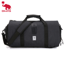 Oiwas Carry-on Duffel Bag Large Travel Duffel Multiple Pockets Backpack Garment Suit Bag with Shoe Compartment for Men Women