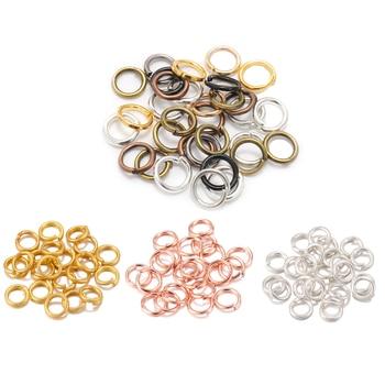 200pcs 3-16mm Gold Rhodium Metal Jump Ring Open Single Loops Split Rings Supplies For DIY Jewelry Handmade Accessories 1000pcs 3 12mm metal jewelry findings open single loops jump rings