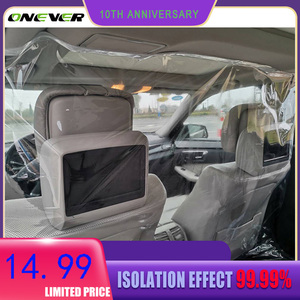 1.4*1.8cm Taxi Isolation Car protection partition screen taxi driver cab film transparent anti-droplet protective film interior(China)