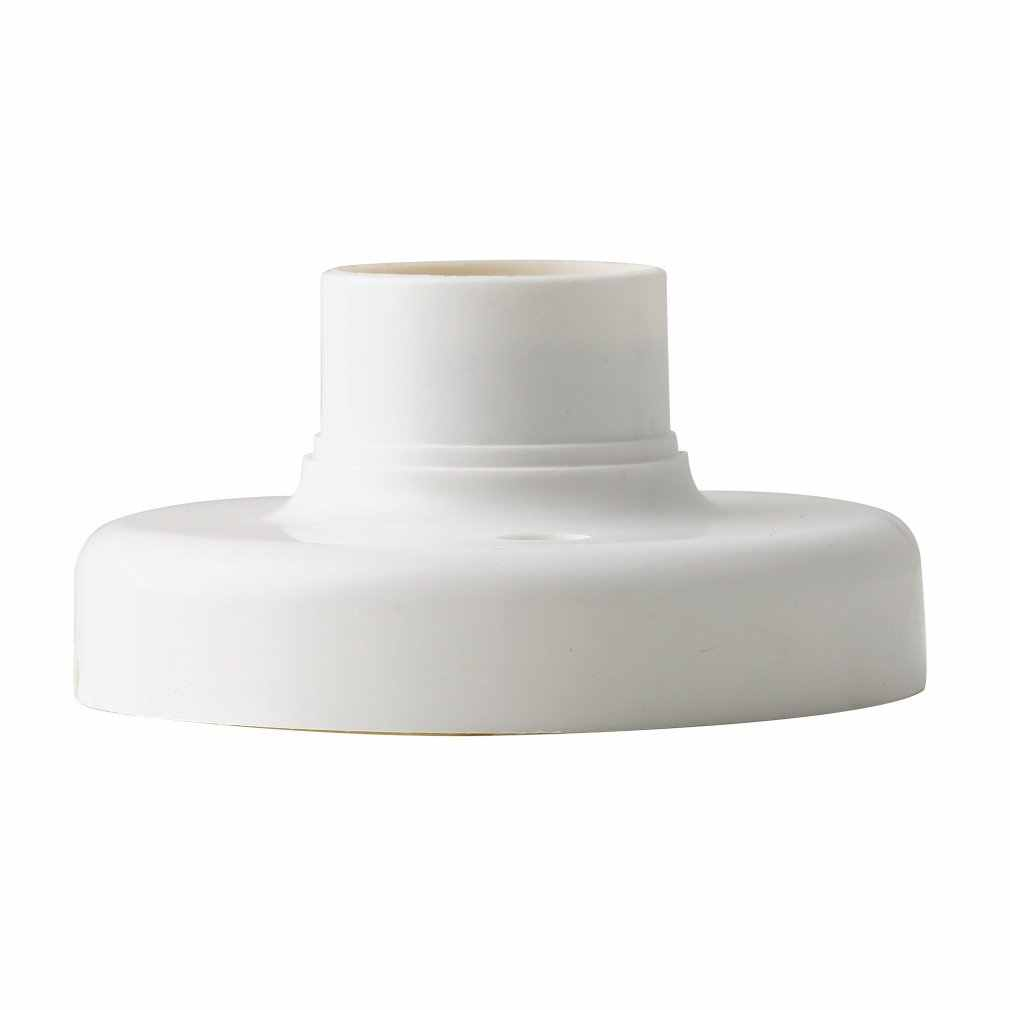 1Pc 2019 Nieuwe Collectie Nuttig E27 Ronde Plastic Base Schroef Light Bulb Lamp Socket Holder Wit Dropshipping