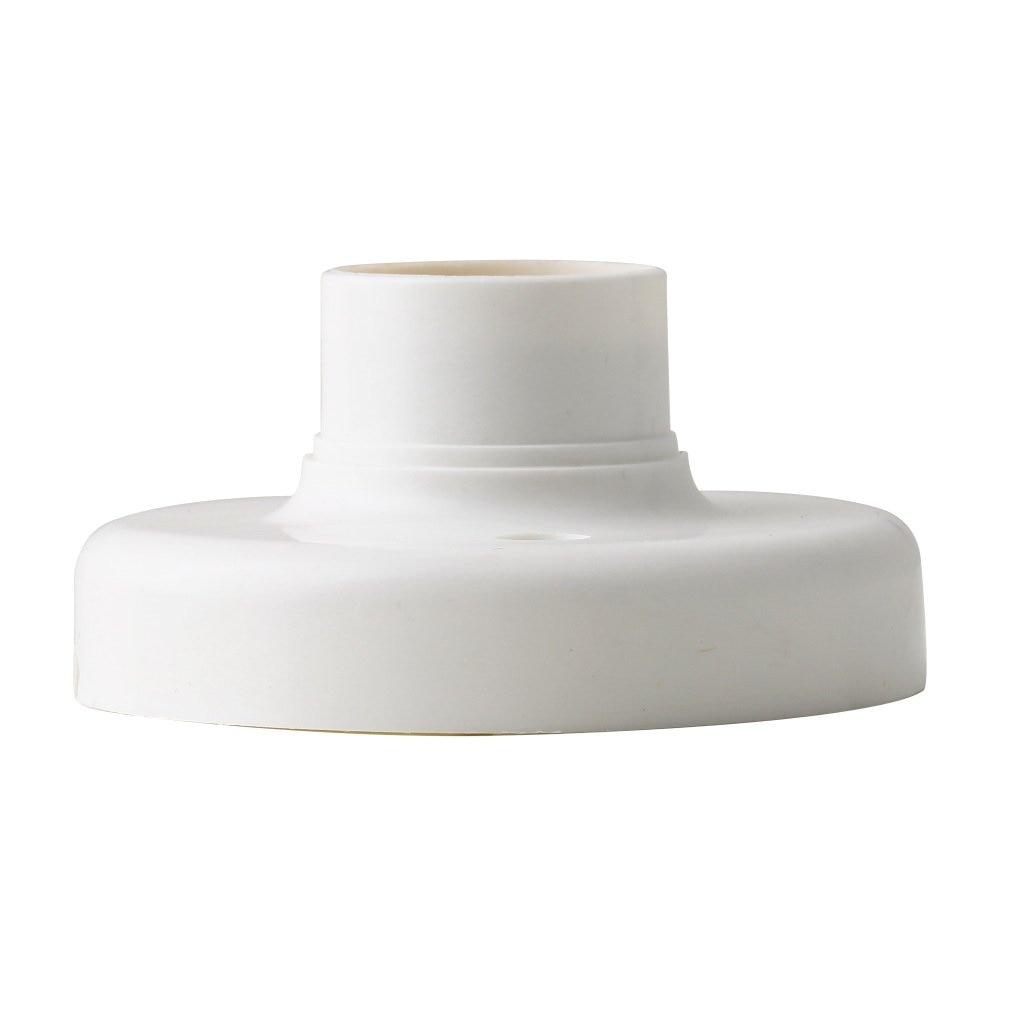 1Pc 2019 New Arrival Useful E27 Round Plastic Base Screw Light Bulb Lamp Socket Holder White Dropshipping