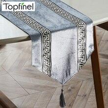 Topfinel дорожки для стола, Современная полоска, кровать, дорожка для свадьбы, Геометрическая Роскошная ткань с кисточками, украшение для столовой, вечерние, для дома