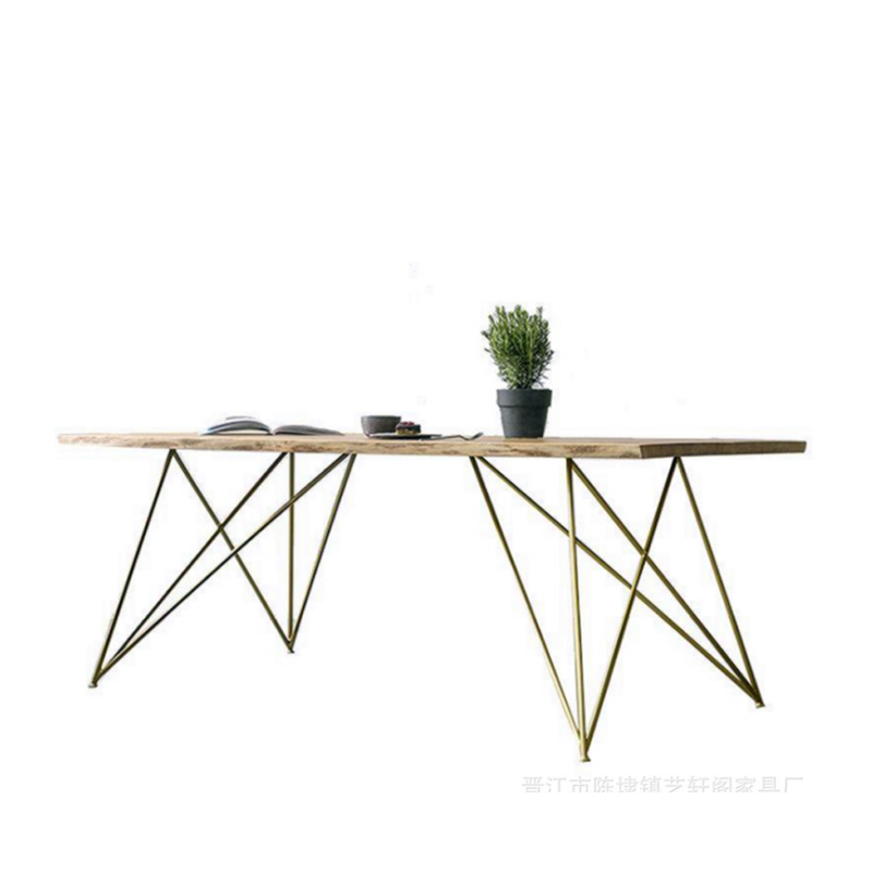 Nordic Wood Table Coffee Table Simple Home Table Modern Wrought Iron Lounge Bar Table