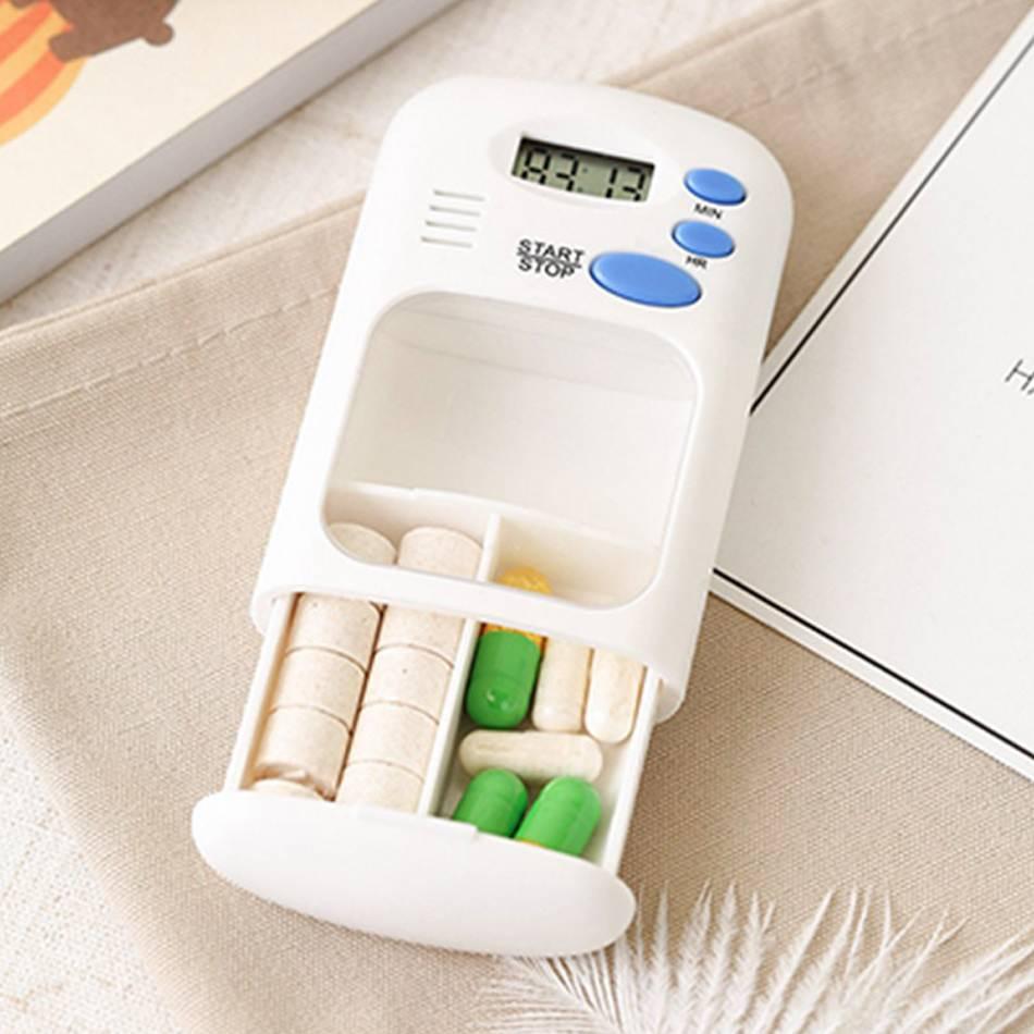 Multifunction Portable Intelligent Reminder Timer For The Elderly Pill Box Daily Storage Case/ Box Smart Emergency Kits Reminder