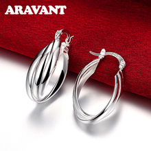 2019 New Arrival 925 Jewelry Silver Plated Vintage Multi Circle Hoop Earring Women Statement Earrings Accessories