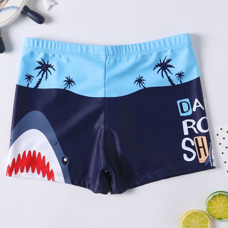 2020 Swimming Trunks For Boys Shark Trunks Swimsuit 2-9Y Children's Swimwear Kids Trunk Shark Beachwear Boys Bathing Suit 1050