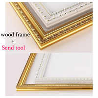 Wood stretcher 1pcs diy oil painting diamond Mosaic Thick wood frame wall painting picture frame Photo Inner frame sticker ZC202