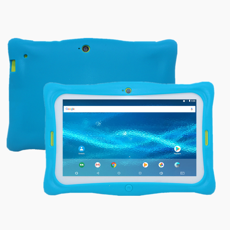 7 Inch  M760 Kids Tablet PC Gift Protection Silicone Case  Android 7.1 Quad Core 1+16GB Dual camera RK3126 1024*600