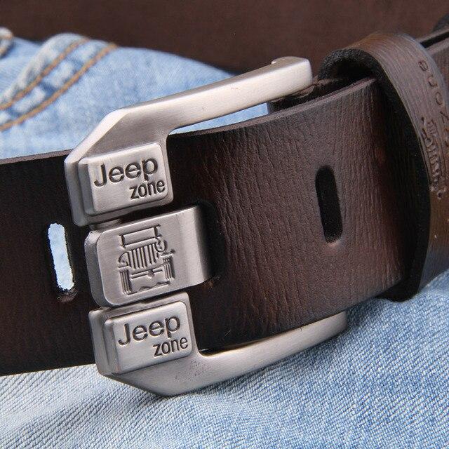 Luxury Vintage Genuine Leather Metal Pin Belt 3