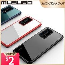 Musubo UltraบางกรณีสำหรับHUAWEI P40 Proกรณีกันกระแทกเต็มรูปแบบด้านหลังP40Proซิลิโคนนุ่มโปร่งใส