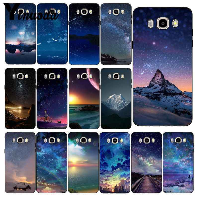 Yinuoda Verbazingwekkende Starry Night Space Sky Art Coque Telefoon Case Voor Samsung Galaxy J7 J6 J8 J4 J4Plus J7 DUO j7NEO J2 J5 Prime
