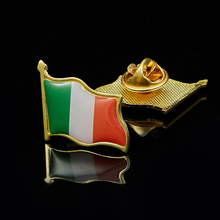 Ireland Eire Country Flag Lapel Hat Cap Tie Pin Badge Irish Republic Brooch 5pcs estonia estonian country flag lapel clothes hat cap tie pin badge brooch accessories