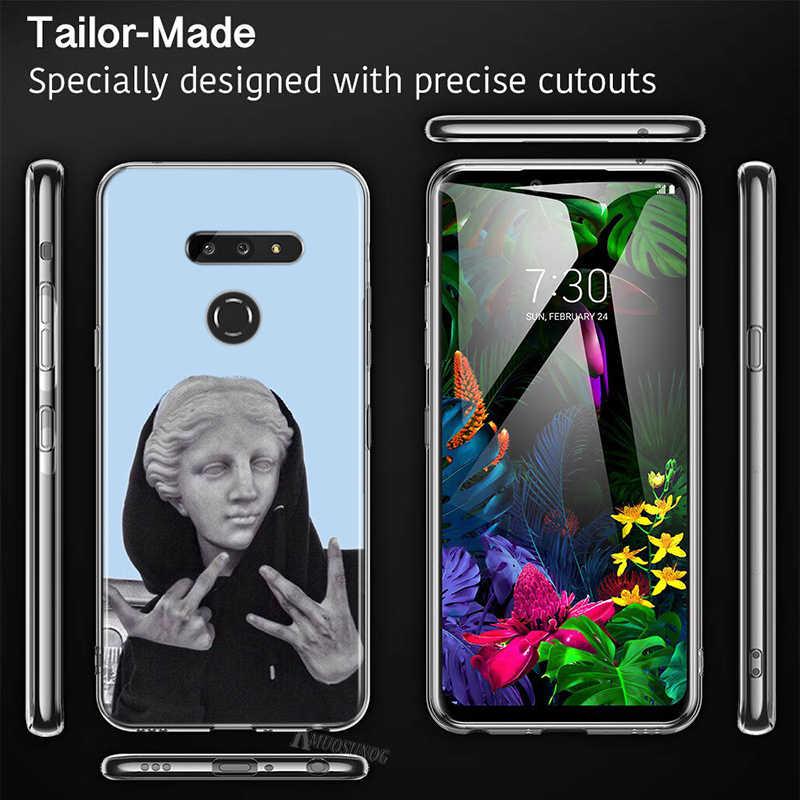 Art Standbeeld Maagd Maria David Voor Lg W30 W10 V50S V50 V40 V30 K50S K40S K30 K20 Q60 Q8 Q7 q6 G8 G7 G6 Thinq Telefoon Case