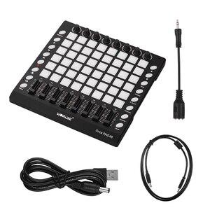 WORLDE PAD 48-дюймовая клавиатура, портативный контроллер, USB, с подсветкой, слайдер, диск, электронные музыкальные инструменты, новинка