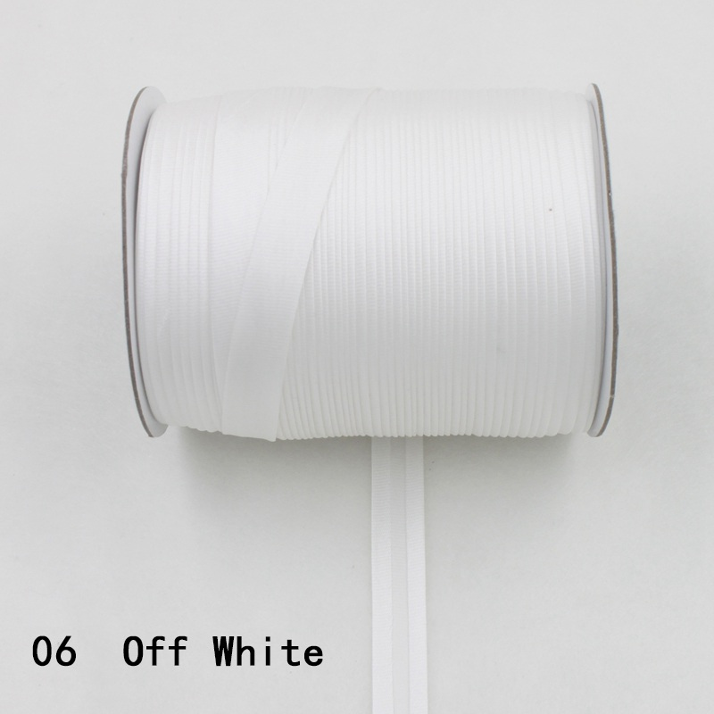 """100 ярд полиэстер 5/""""(15 мм) атласная косая лента косая Привязка сплошной цвет для пошив одежды «сделай сам» и обрезки - Цвет: 06    off white"""