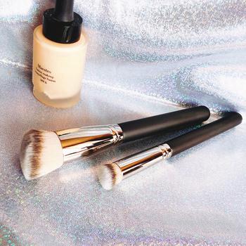 Luxury Makeup Brushes Wood Copper Handle #270s Angled Round Head Acne Concealer Brush #170 Foundation Contouring Brush tanie i dobre opinie Włosy syntetyczne single makeup brush #170 #270s 170mm Korektor W proszku Bronzer Brush Drewna Pędzel do makijażu foundation brush
