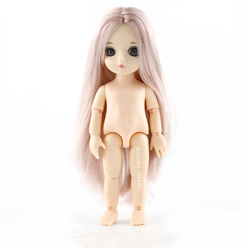 13 Moveable Jointed 15cm 1/8 Dolls Toys BJD Baby Doll Naked Nude Women Body Fashion Dolls Toy for Girls Gift Normal Skin 1