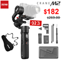 Zhiyun Crane M2 3-Axis cardanes de mano para Smartphones cámara sin espejo y estabilizador de cámaras compactas de acción para Sony Canon M6