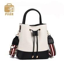 PU Leather Womens Handbag Cute Drawstring Bucket Bag High Quality Female Leather Shoulder Bag Messenger Crossbody Bags Purses цена 2017