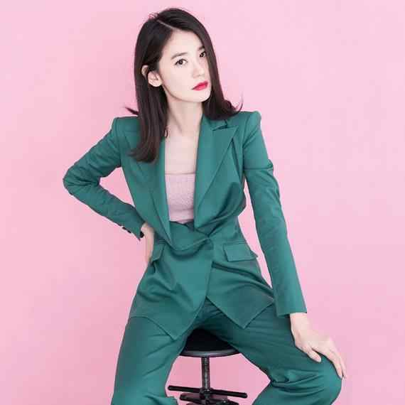 Autumn Women Pant Suits 2 Pieces Set Single Breasted Jacket Blazer & Elastic Waist Buttons Pant Female Suits AE912