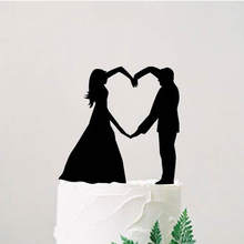 Жених и невеста силуэт свадебный торт Топпер, персонализированные торт Топпер, современные идеи свадебного декора, аксессуары для помолвки