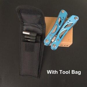 Image 5 - NEWACALOX חיצוני Multitool צבת תיקון כיס סכין פי מברג סט יד רב כלי מיני מתקפל כיס נייד דיג