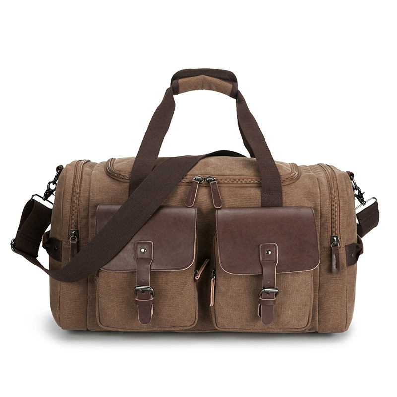 Outdoors Canvas Travelling Men Travel Backpack Bags And Hand Duffle Bag Luggage For Weekend Duffel Traveling Bag Women Handbag