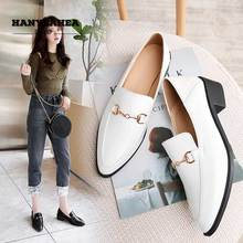 Pointed Toe Womens Shoes Neutral Leisure Chaussure Femme Elegane Concise Buckle Platform