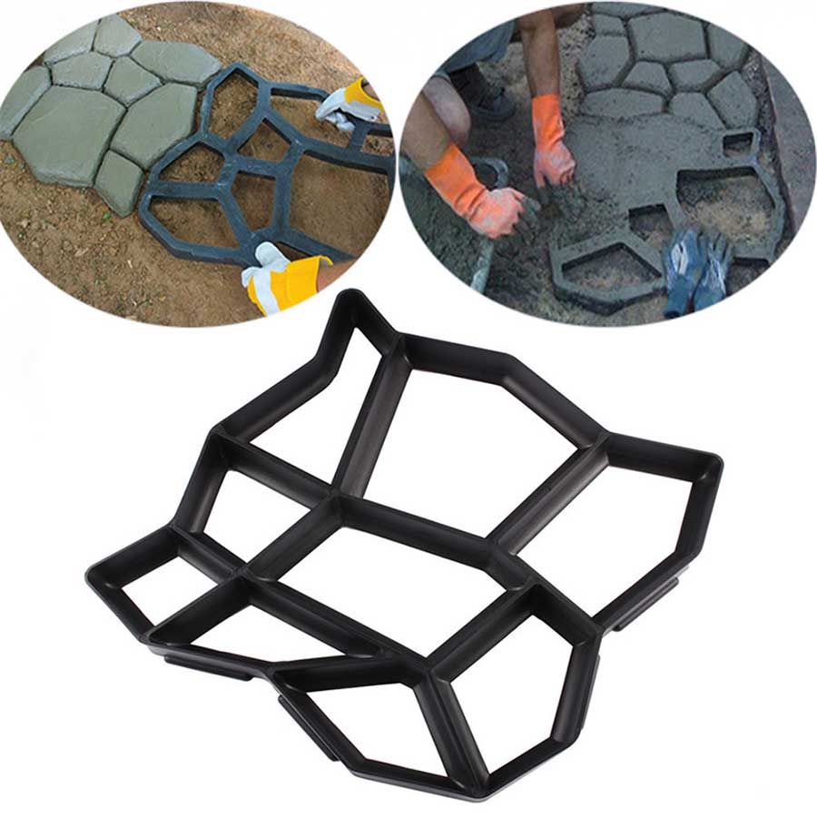 Garden decorated tools mold for concrete DIY Stone plastic mold pathways paving mold  pathmate shovel 43 43 4CM