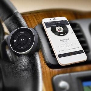 Control remoto Bluetooth fabricación elaborada largo duradero volante de coche Media remoto para teléfono iOS Android