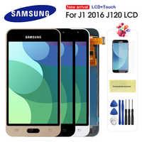 Für Samsung Galaxy J1 2016 J120 J120F J120H J120M LCD Display Touchscreen Digitizer Montage Ersatz Können Einstellen Helligkeit