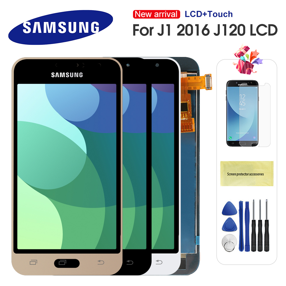 For Samsung Galaxy J1 2016 J120 J120F J120H J120M LCD Display Touch Screen Digitizer Assembly Replacement Can Adjust Brightness