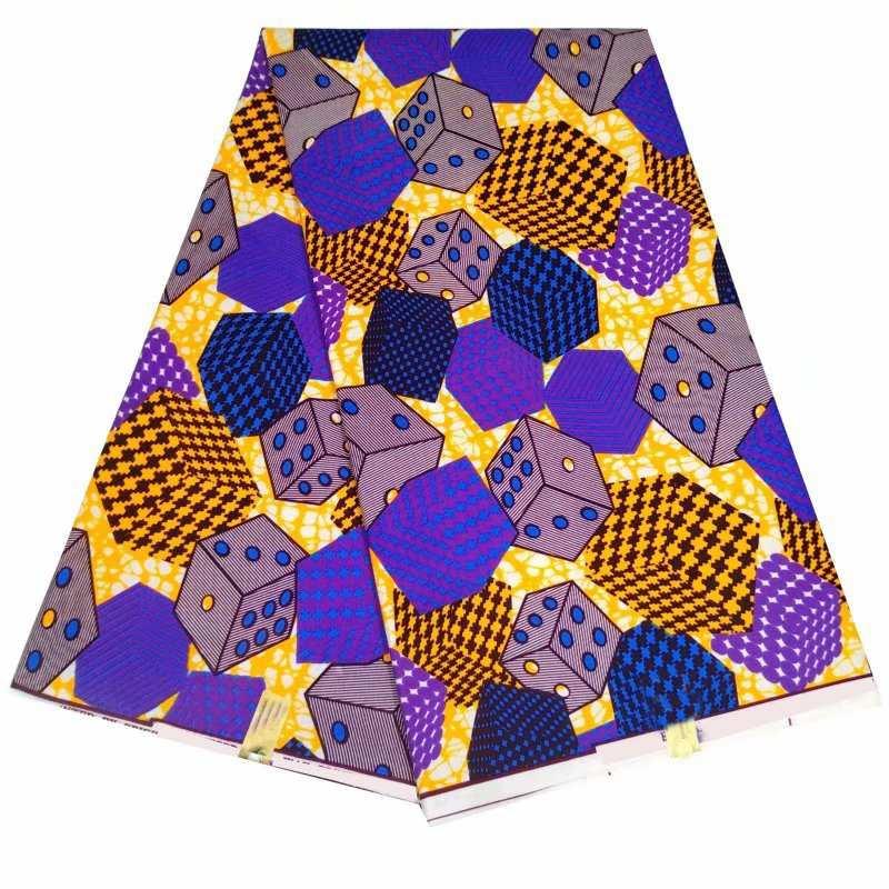 3-6 YARDS African Cotton Print Fabric Ankara Wax Beautiful *FREE P/&P*