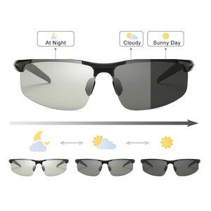 Image 3 - فوتوكروميك النظارات الشمسية الرجال الاستقطاب UV400 مكبرة رجل نظارات شمسية القيادة خمر حملق gafas دي سول 2020 مع صندوق Sunglasses Men Polarized